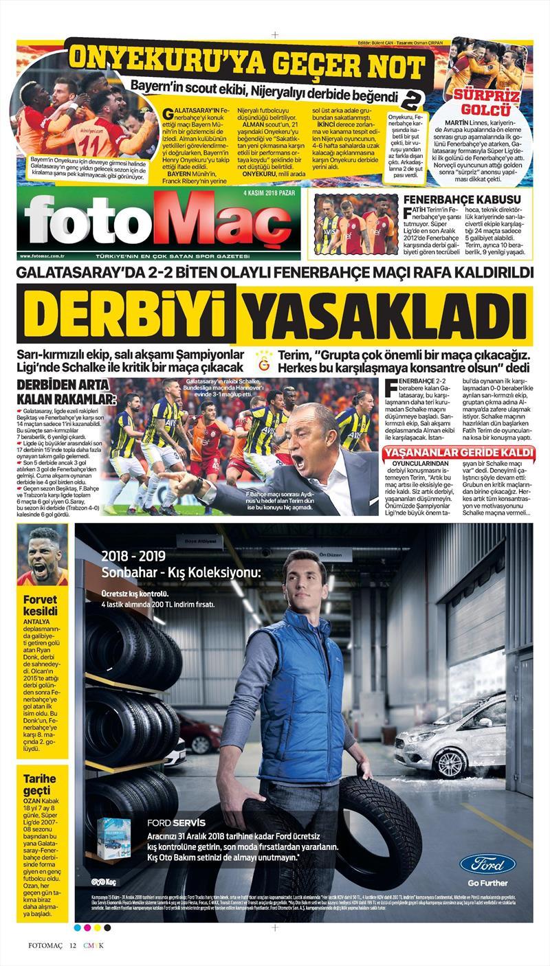 4 Kasım Gazete Manşetleri