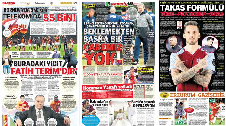 16 Mayıs gazete manşetleri