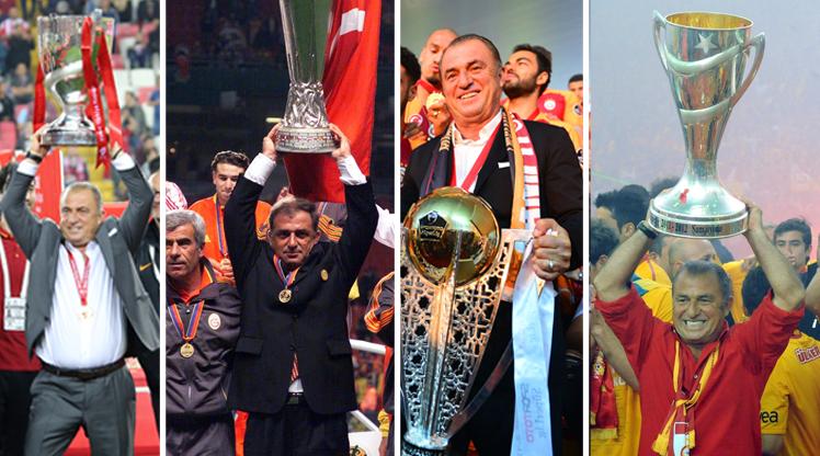 Fatih Terim'in Galatasaray'da kazandığı kupalar