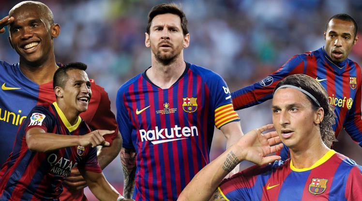 İşte Messi'ye eşlik eden golcüler