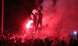 Adana Demirspor'un BB Erzurumspor galibiyeti, kentte coşkuyla kutlandı