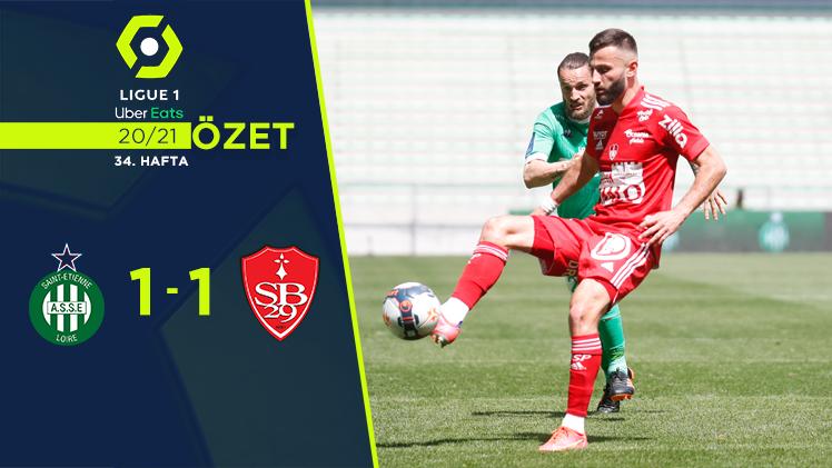 Saint Etienne Stade Brest 29 maç özeti