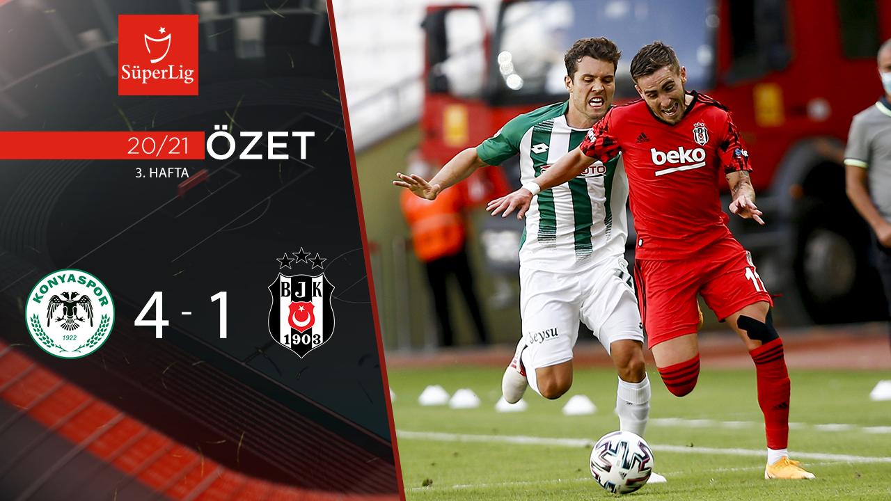 İttifak Holding Konyaspor Beşiktaş maç özeti