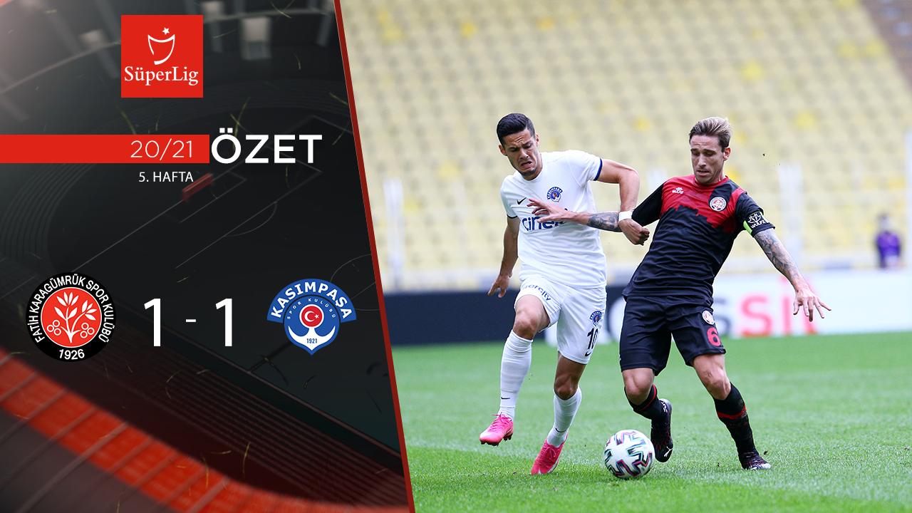 Fatih Karagümrük Kasımpaşa maç özeti