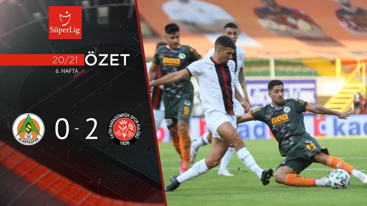 Aytemiz Alanyaspor Fatih Karagümrük maç özeti