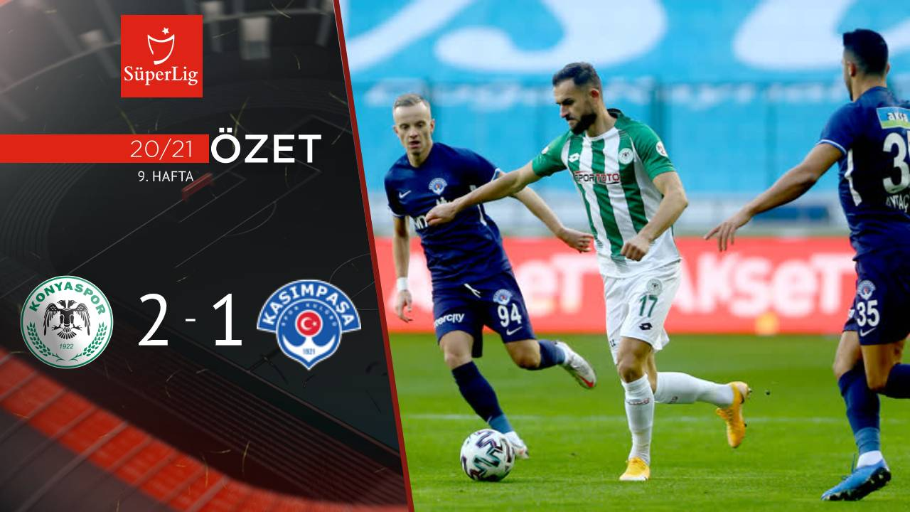 İttifak Holding Konyaspor Kasımpaşa maç özeti