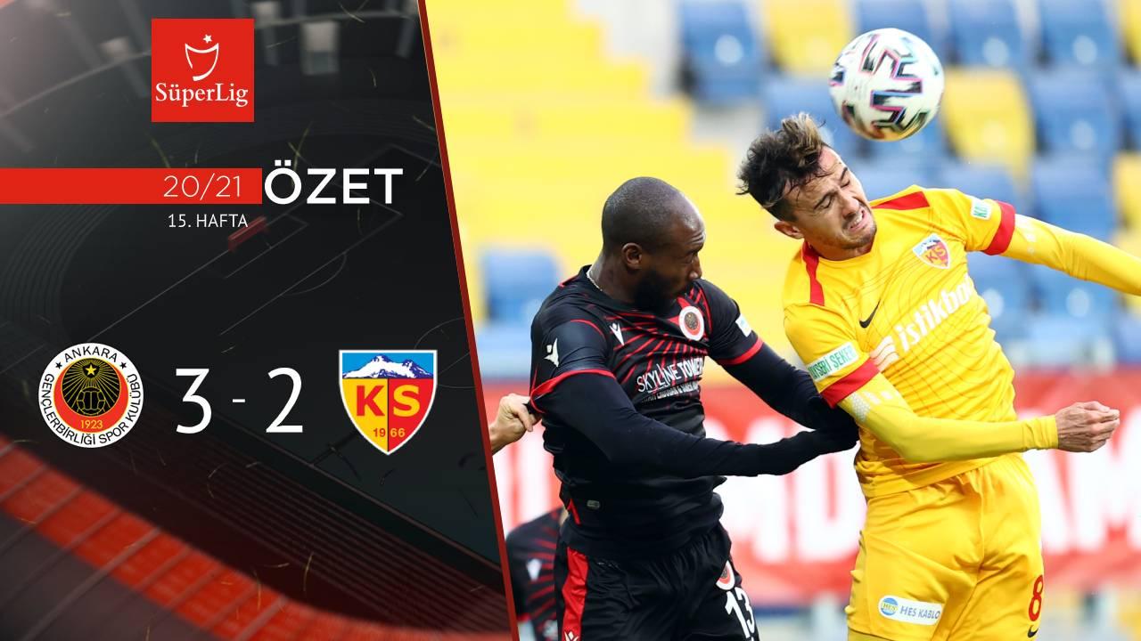 Gençlerbirliği Hes Kablo Kayserispor maç özeti