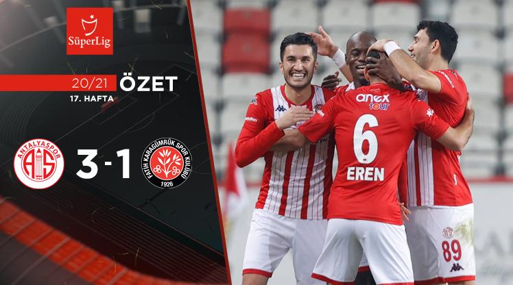 Fraport TAV Antalyaspor Fatih Karagümrük maç özeti