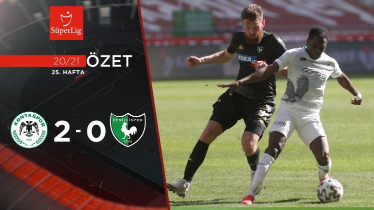 İttifak Holding Konyaspor Yukatel Denizlispor maç özeti