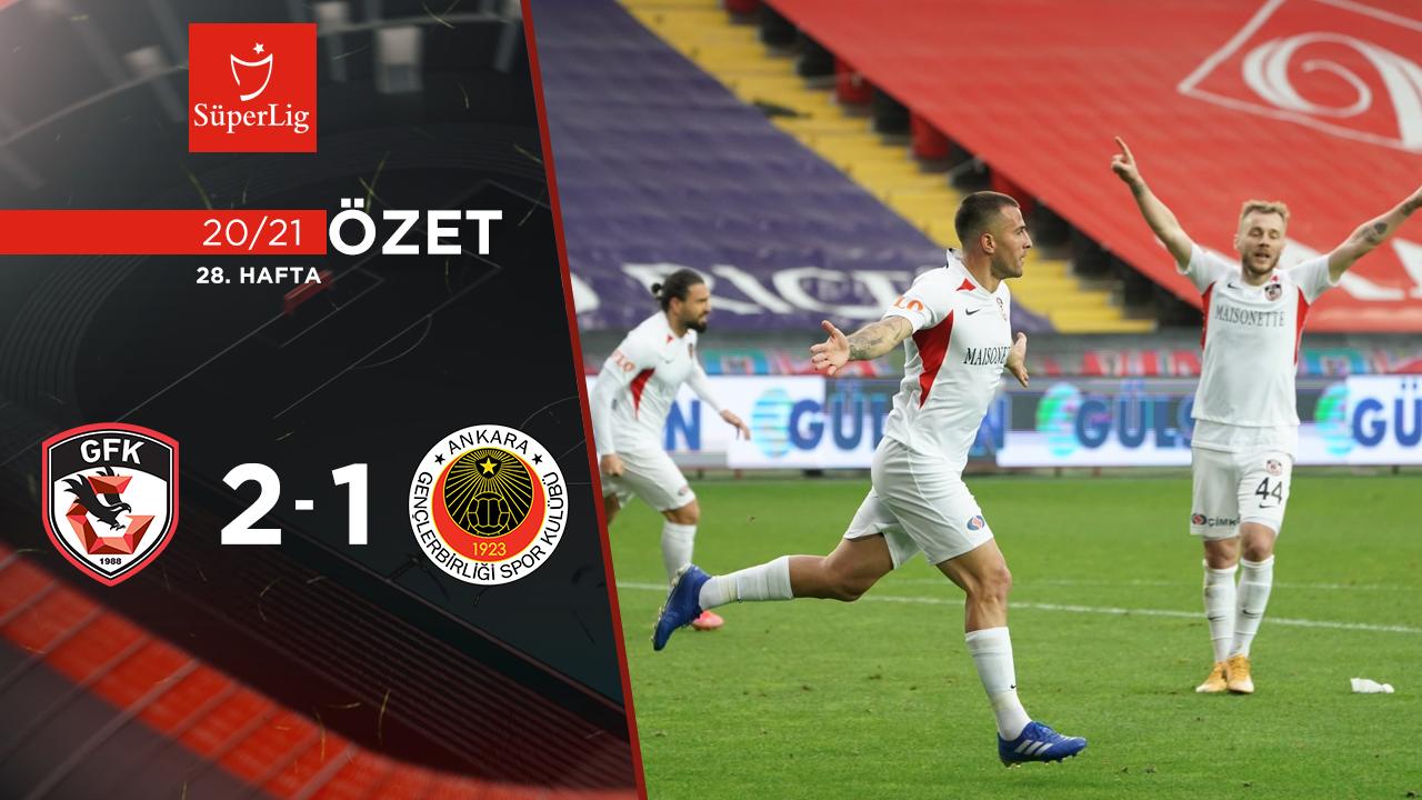 Gaziantep FK Gençlerbirliği maç özeti