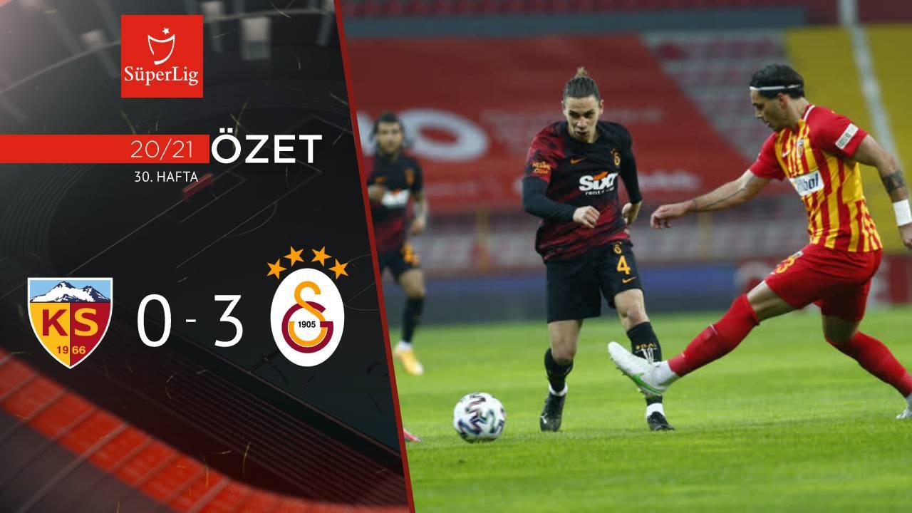 Hes Kablo Kayserispor Galatasaray maç özeti