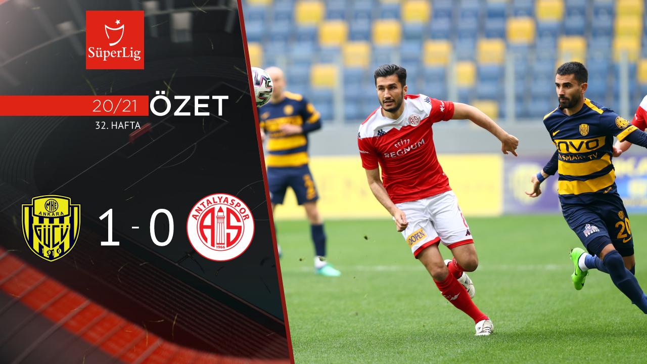 MKE Ankaragücü Fraport TAV Antalyaspor maç özeti