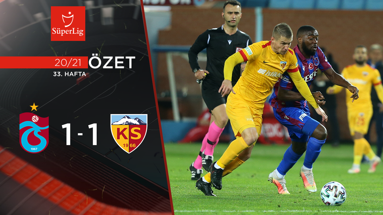 Trabzonspor Hes Kablo Kayserispor maç özeti