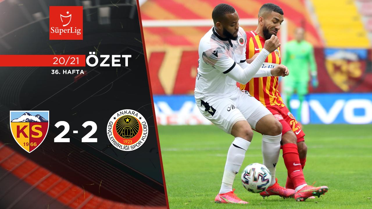 Hes Kablo Kayserispor Gençlerbirliği maç özeti
