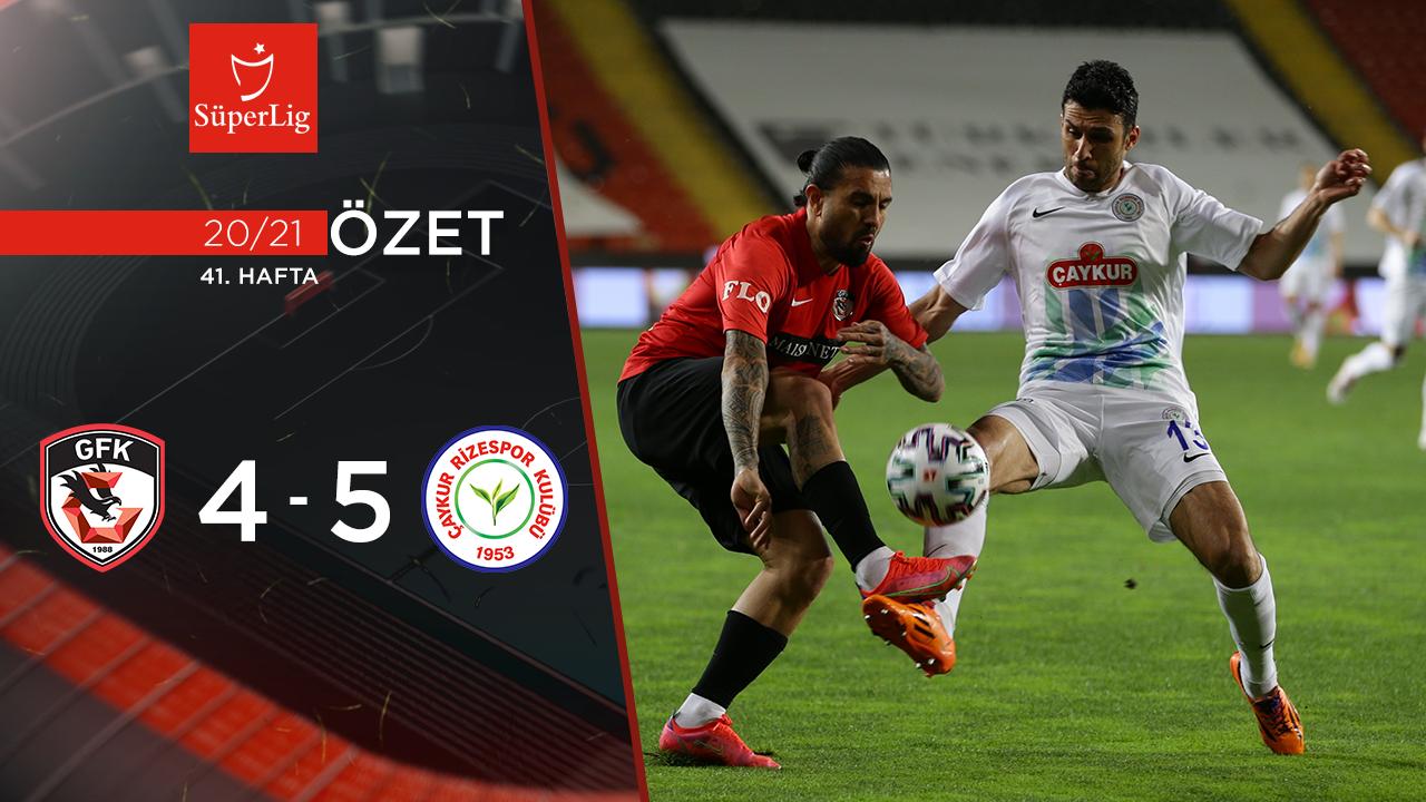 Gaziantep FK Çaykur Rizespor maç özeti