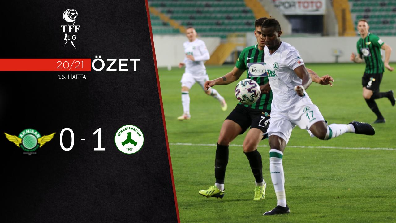 Akhisarspor Giresunspor maç özeti