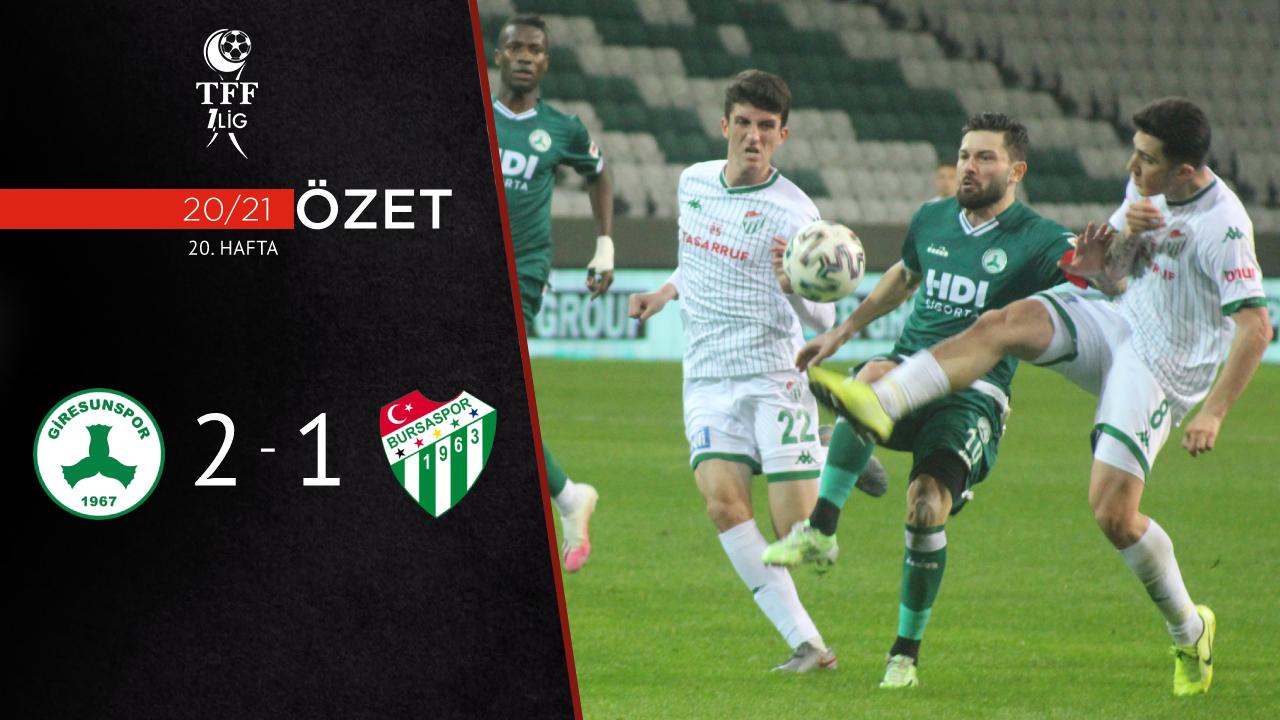 Giresunspor Bursaspor maç özeti