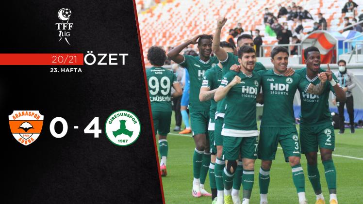 Adanaspor Giresunspor maç özeti
