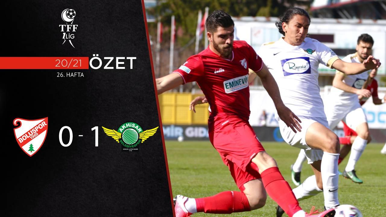 Beypiliç Boluspor Akhisarspor maç özeti