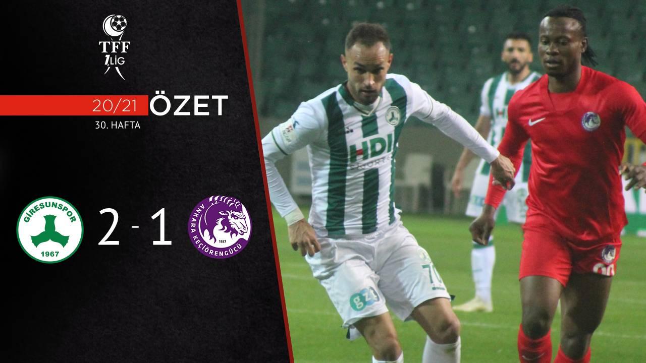 GZT Giresunspor Ankara Keçiörengücü maç özeti