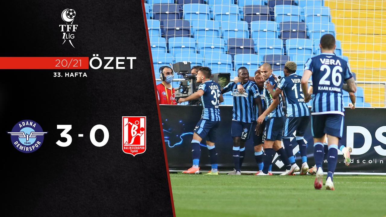 Adana Demirspor Aydeniz Et Balıkesirspor maç özeti