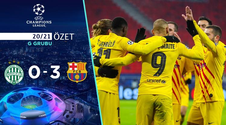 Ferencvaros Barcelona maç özeti