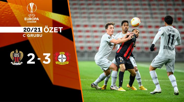 Nice Bayer Leverkusen maç özeti