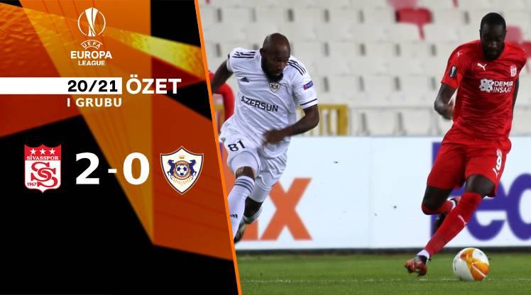 Demir Grup Sivasspor Karabağ maç özeti
